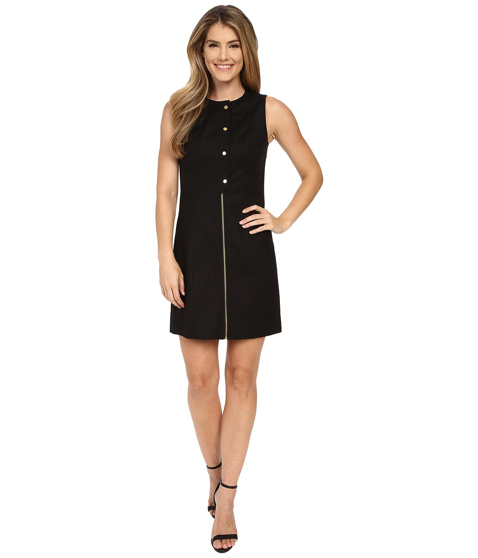 MICHAEL Michael Kors - Placket Detail Dress (Black) Women's Dress