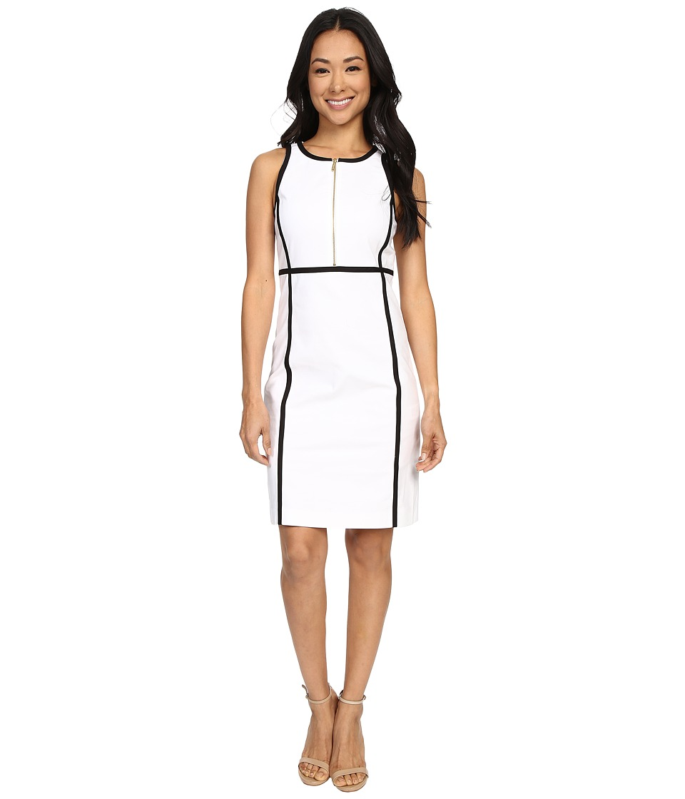 MICHAEL Michael Kors - Contrast Binding Dress (White) Women's Dress