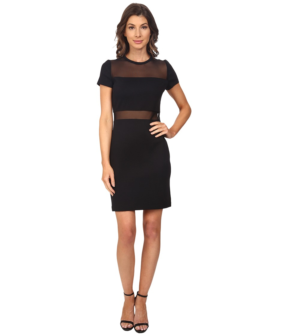 MICHAEL Michael Kors - Mesh Panel Dress (Black) Women's Dress