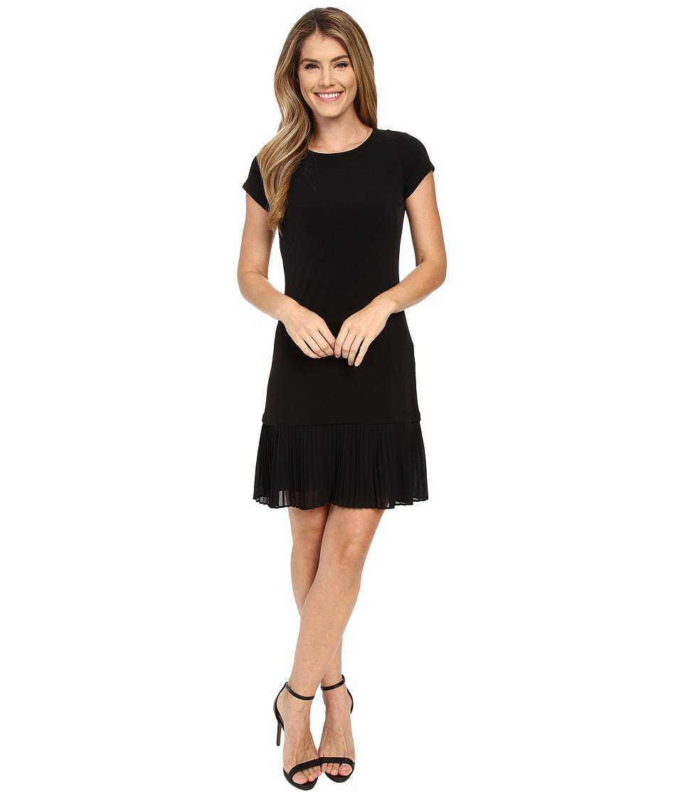 MICHAEL Michael Kors - Pleat Hem Dress (Black) Women's Dress