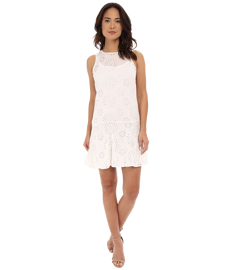 MICHAEL Michael Kors - Eyelet Godet Dress (White) Women's Dress