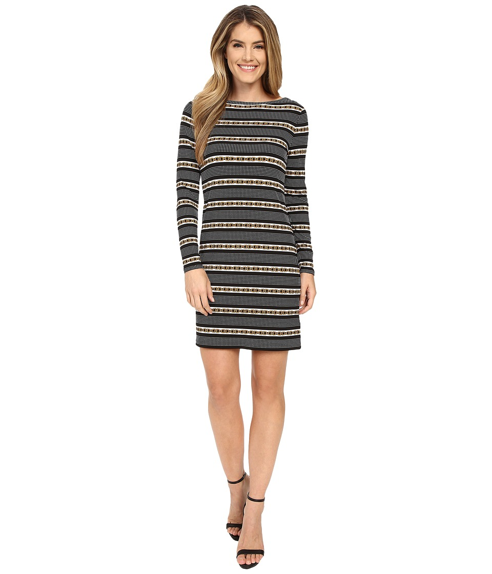 MICHAEL Michael Kors - Carden Boat Neck Dress (Black) Women's Dress