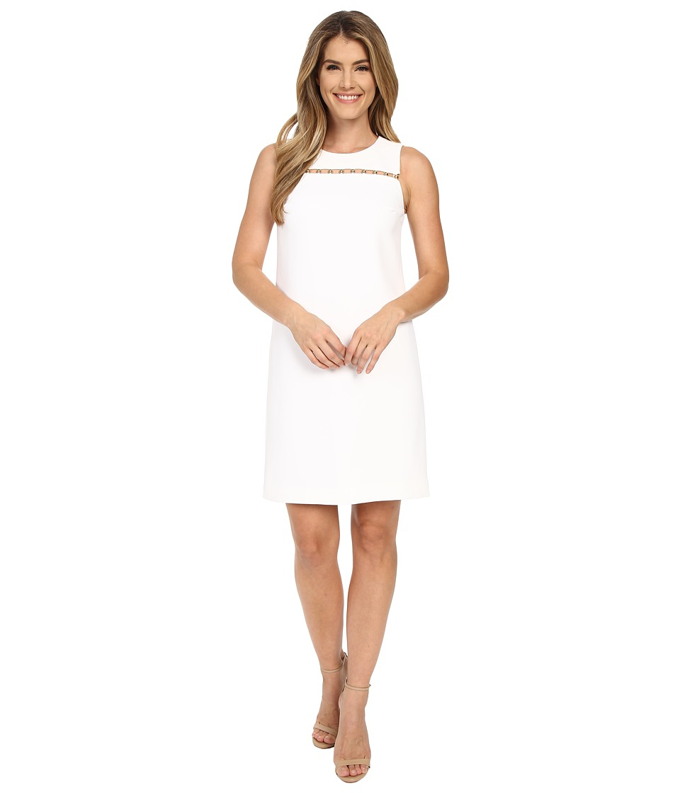 MICHAEL Michael Kors - Bead Detail Dress (White) Women's Dress