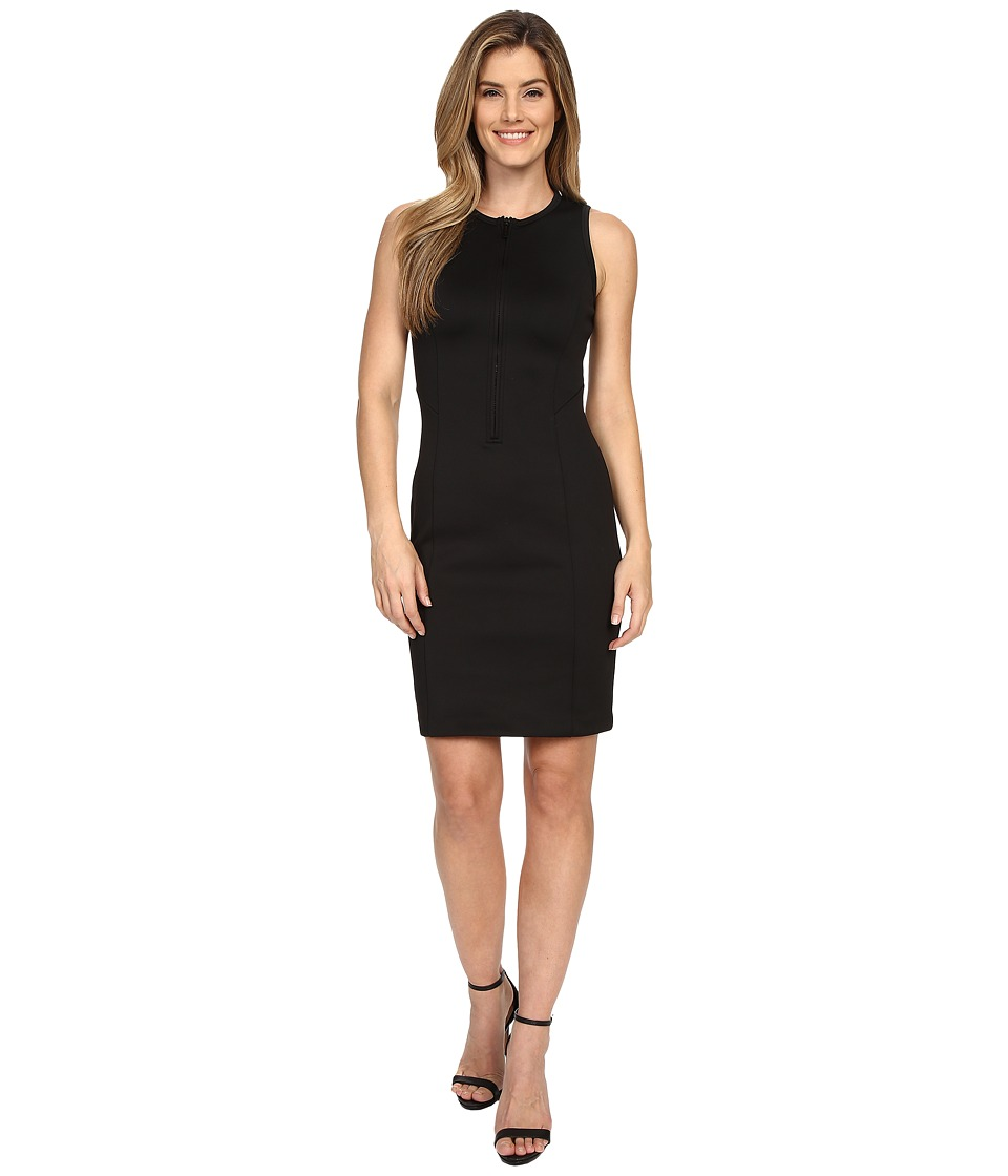 MICHAEL Michael Kors - Scuba Panel Zip Dress (Black) Women's Dress
