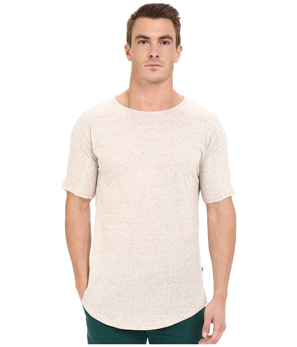Publish - Titus - Speckled Lightweight Cotton Seamless Sleeve Shoulder Panel Knit Tee (Natual) Men's T Shirt