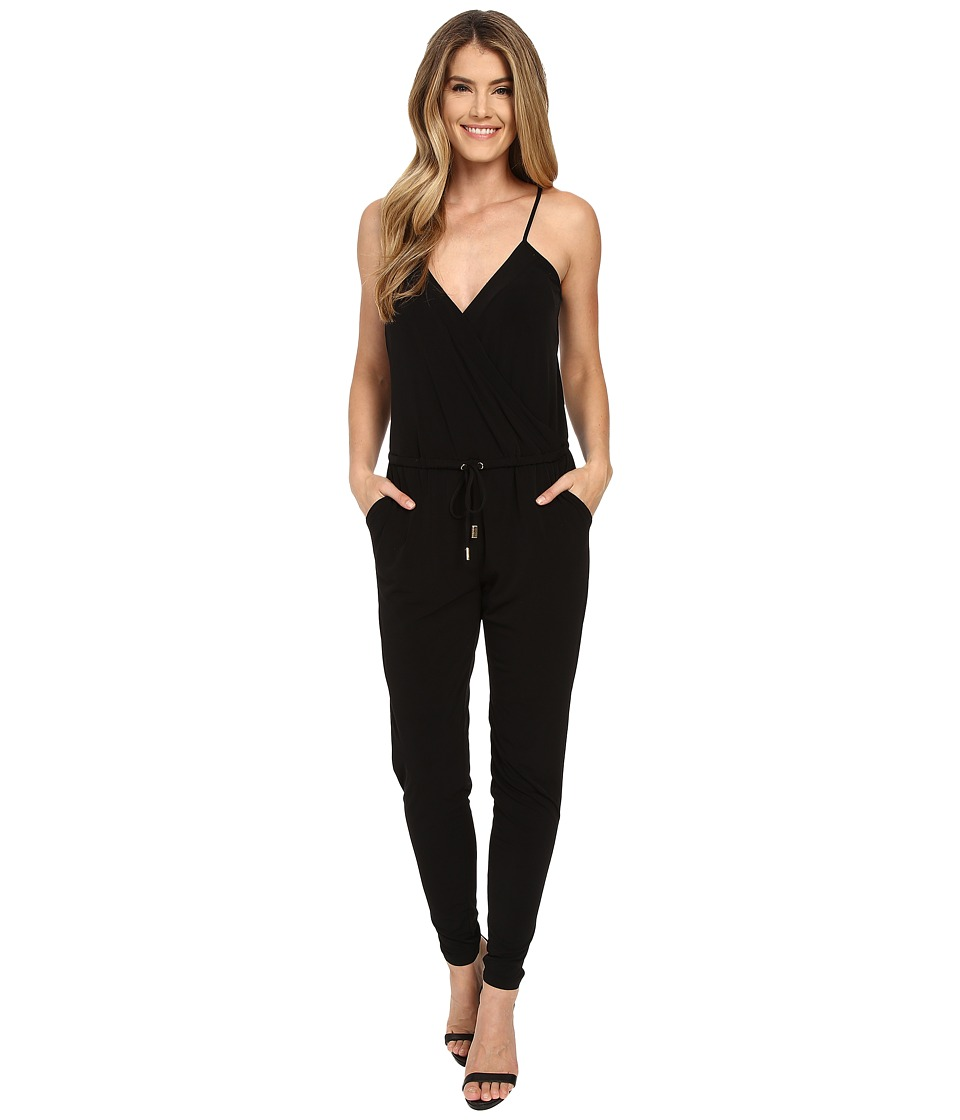 MICHAEL Michael Kors - Seamed Matte Jersey Jumpsuit (Black) Women's Jumpsuit & Rompers One Piece