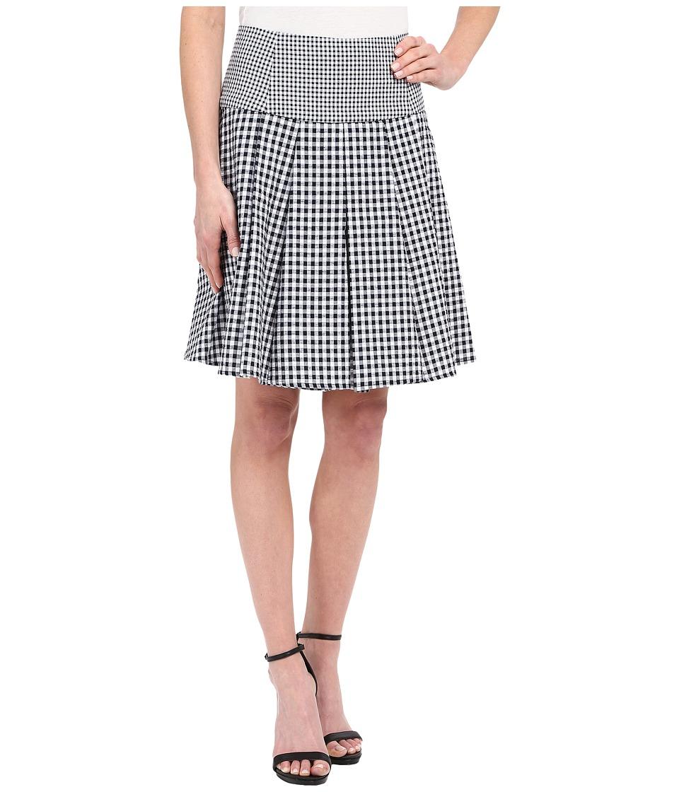 MICHAEL Michael Kors - Fit Flare Pleat Skirt (New Navy) Women's Skirt