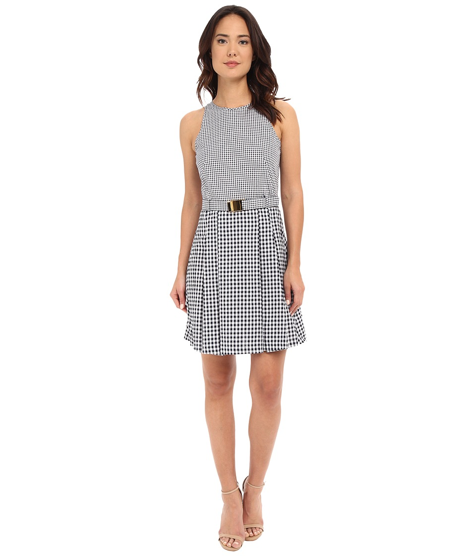 MICHAEL Michael Kors Self Belt Dress (New Navy) Women