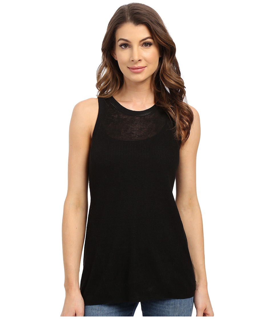 MICHAEL Michael Kors - Rib Halter Tank Top (Black) Women's Sleeveless
