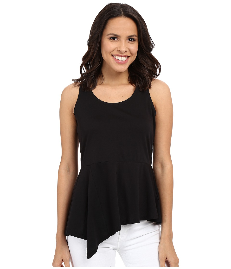 MICHAEL Michael Kors - Asymmetrical Flounce Sleeveless Top (Black) Women's Sleeveless