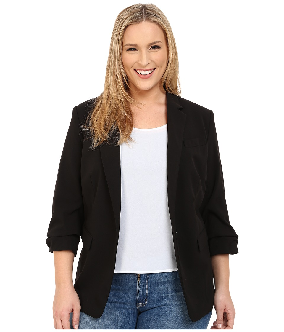 MICHAEL Michael Kors - Plus Size New Boyfriend Blazer (Black) Women