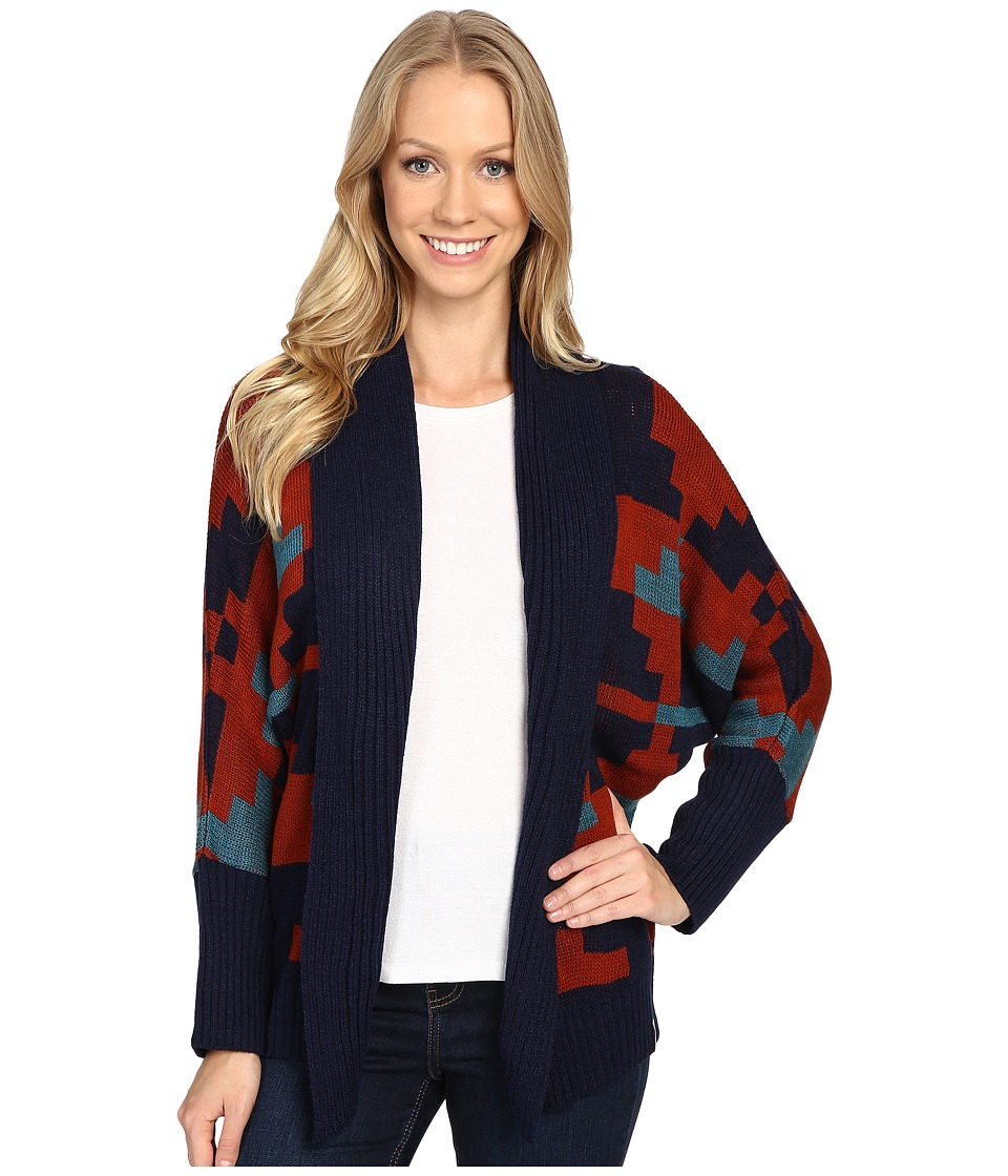Woolrich - Harvest Cardigan (Deep Indigo Multi) Women's Sweater