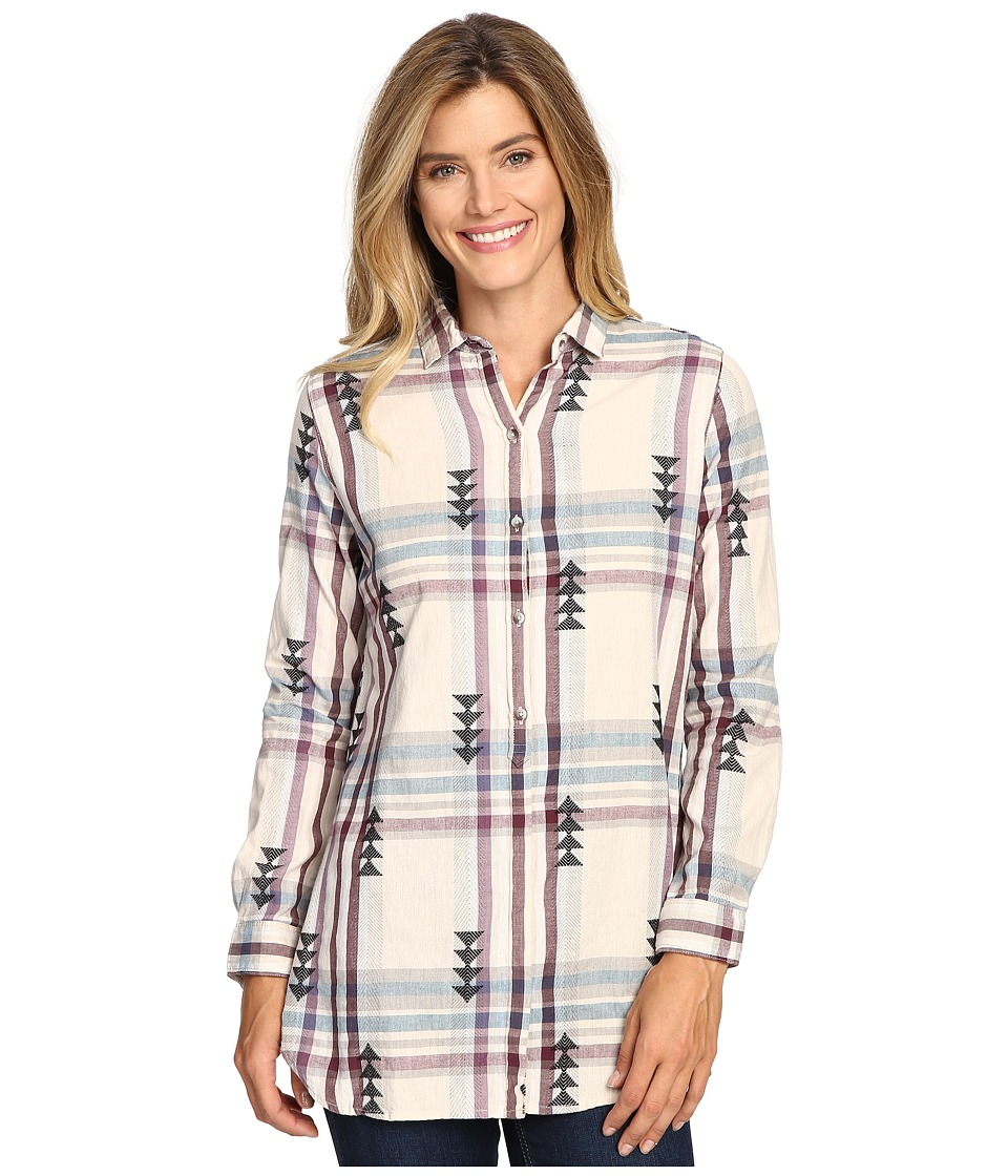 Woolrich - First Light Jacquard Shirt (Silver Gray) Women's Long Sleeve Button Up