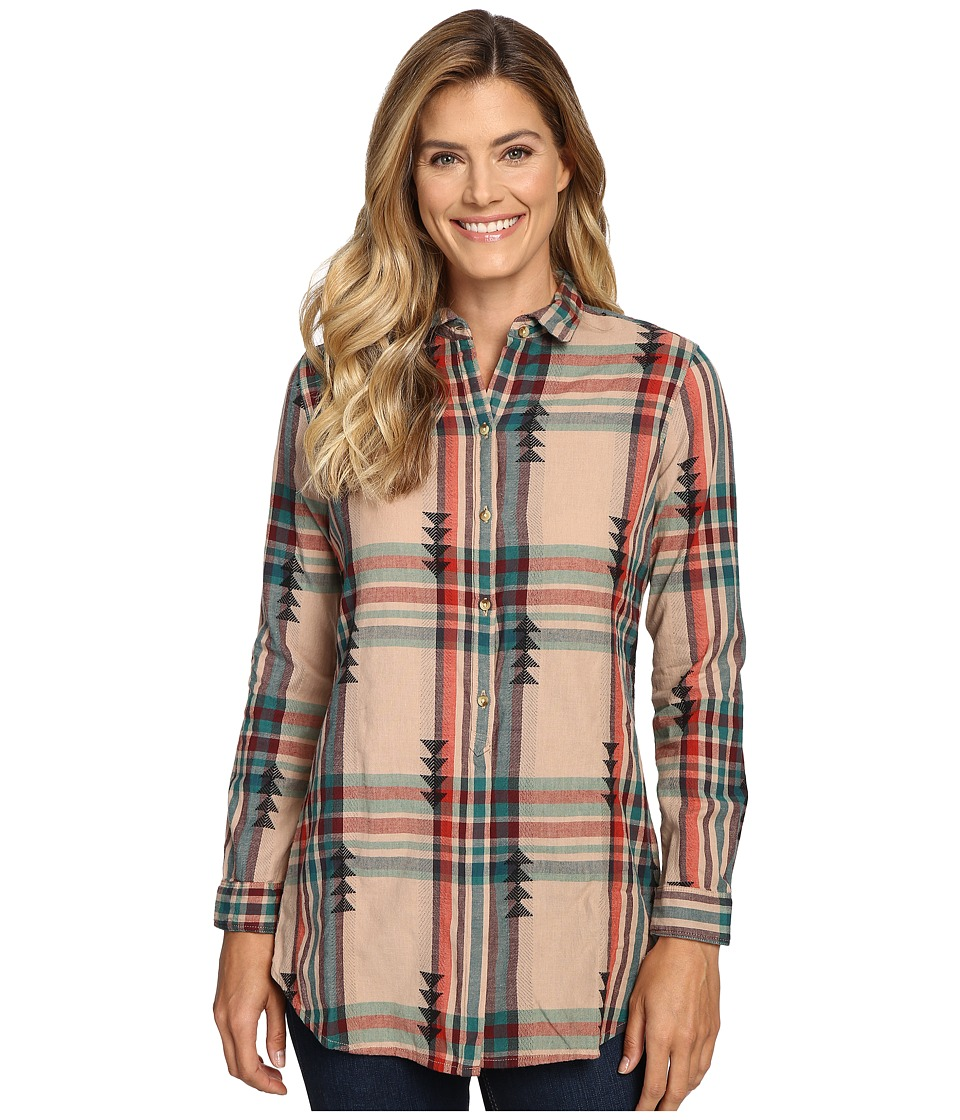Woolrich - First Light Jacquard Shirt (Warm Taupe) Women's Long Sleeve Button Up