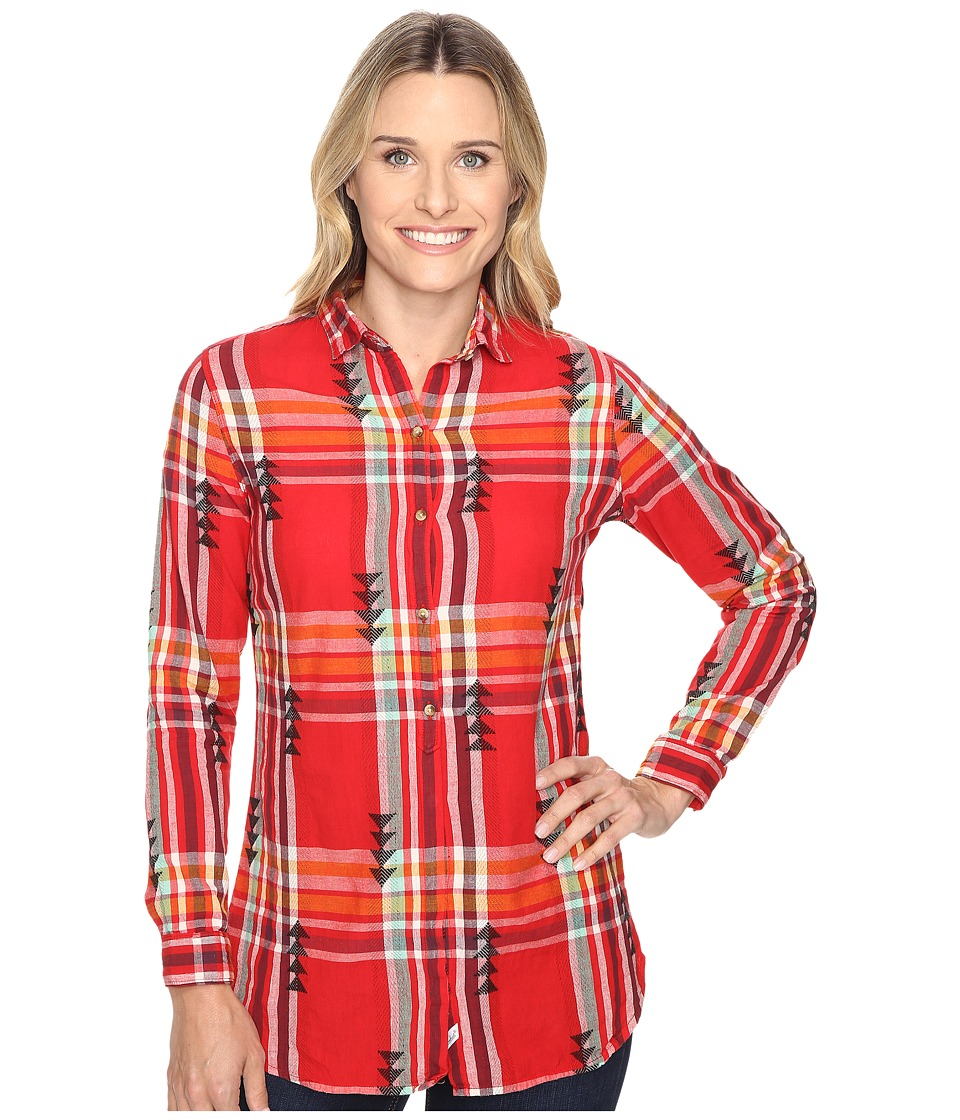 Woolrich - First Light Jacquard Shirt (Old Red Multi) Women's Long Sleeve Button Up