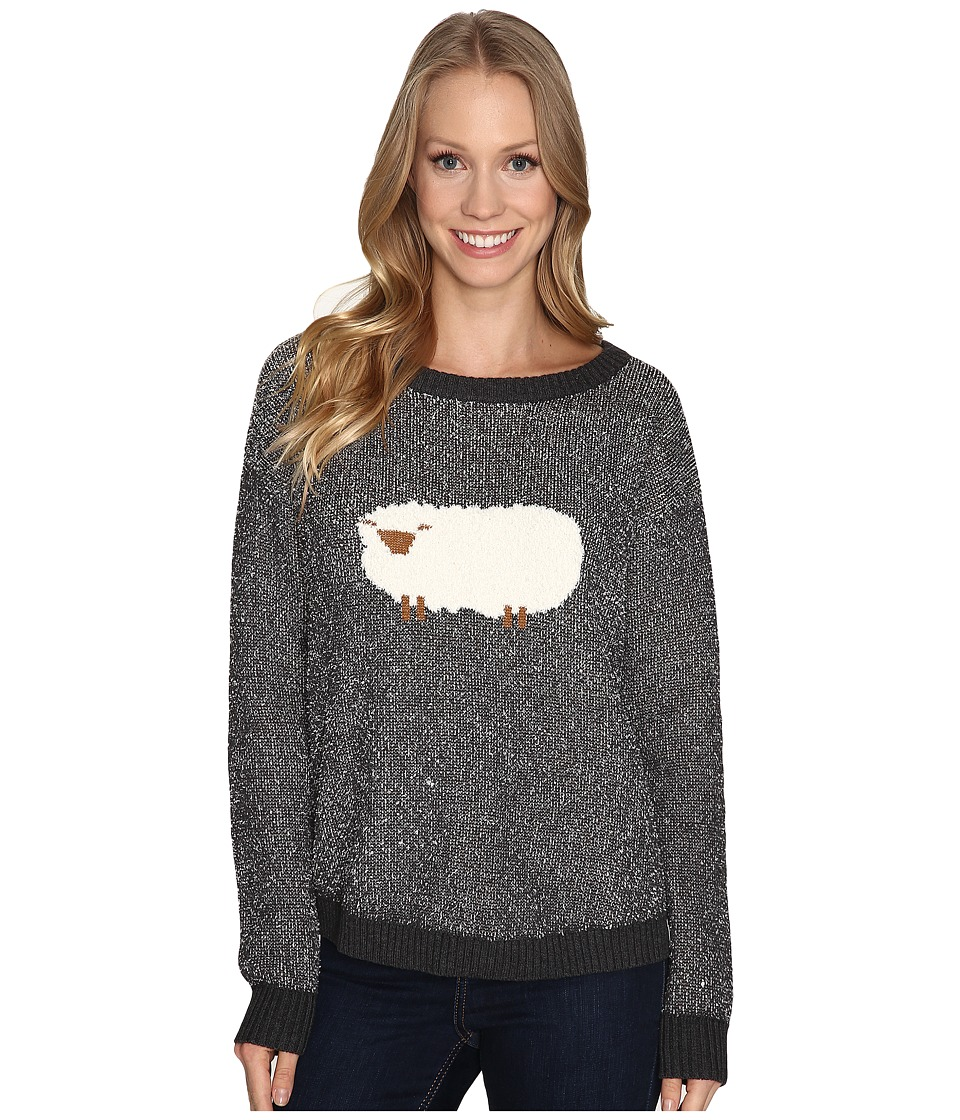 Woolrich - Wooly Sheep Motif Sweater (Charcoal) Women's Sweater