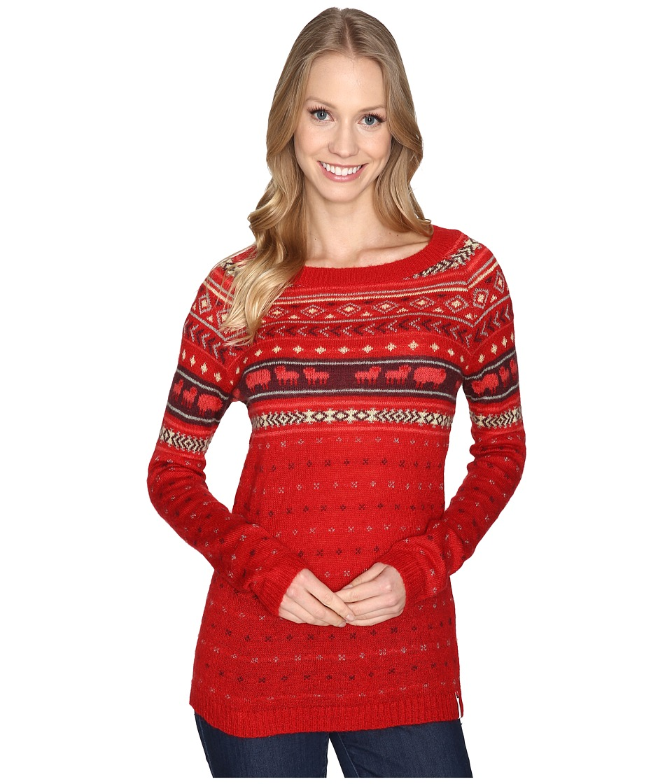 Woolrich - Mohair Fairisle II Sweater (Old Red Combo) Women's Sweater