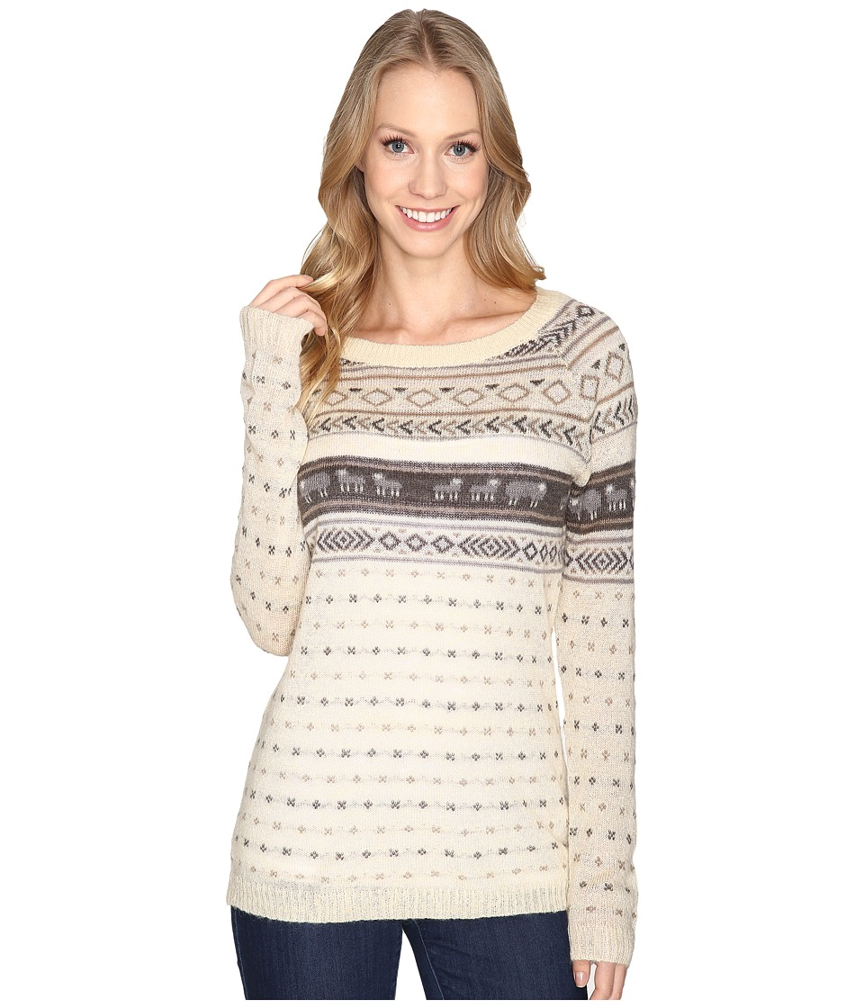 Woolrich - Mohair Fairisle II Sweater (Wool Cream Combo) Women's Sweater