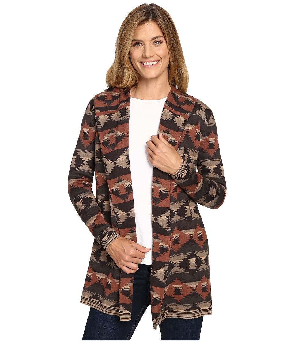 Woolrich - Dew Berry Hooded Fairisle Cardigan II (Heartwood Multi) Women's Sweater