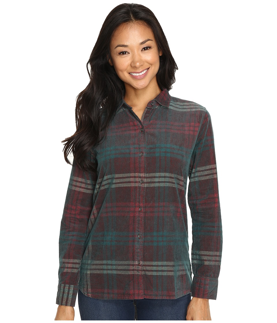 Woolrich - Rappel Cord Shirt (Dark Teal) Women's Long Sleeve Button Up