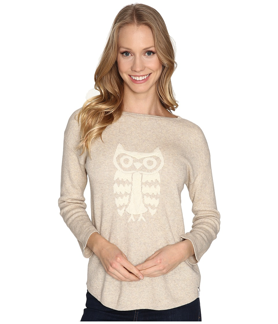 Woolrich - Two Tone Motif Sweater (Warm Khaki) Women's Sweater