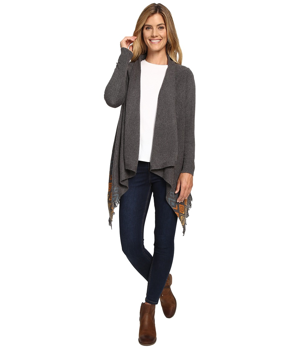 Woolrich - Long Way Fringe Cardigan (Gray Heather) Women's Sweater