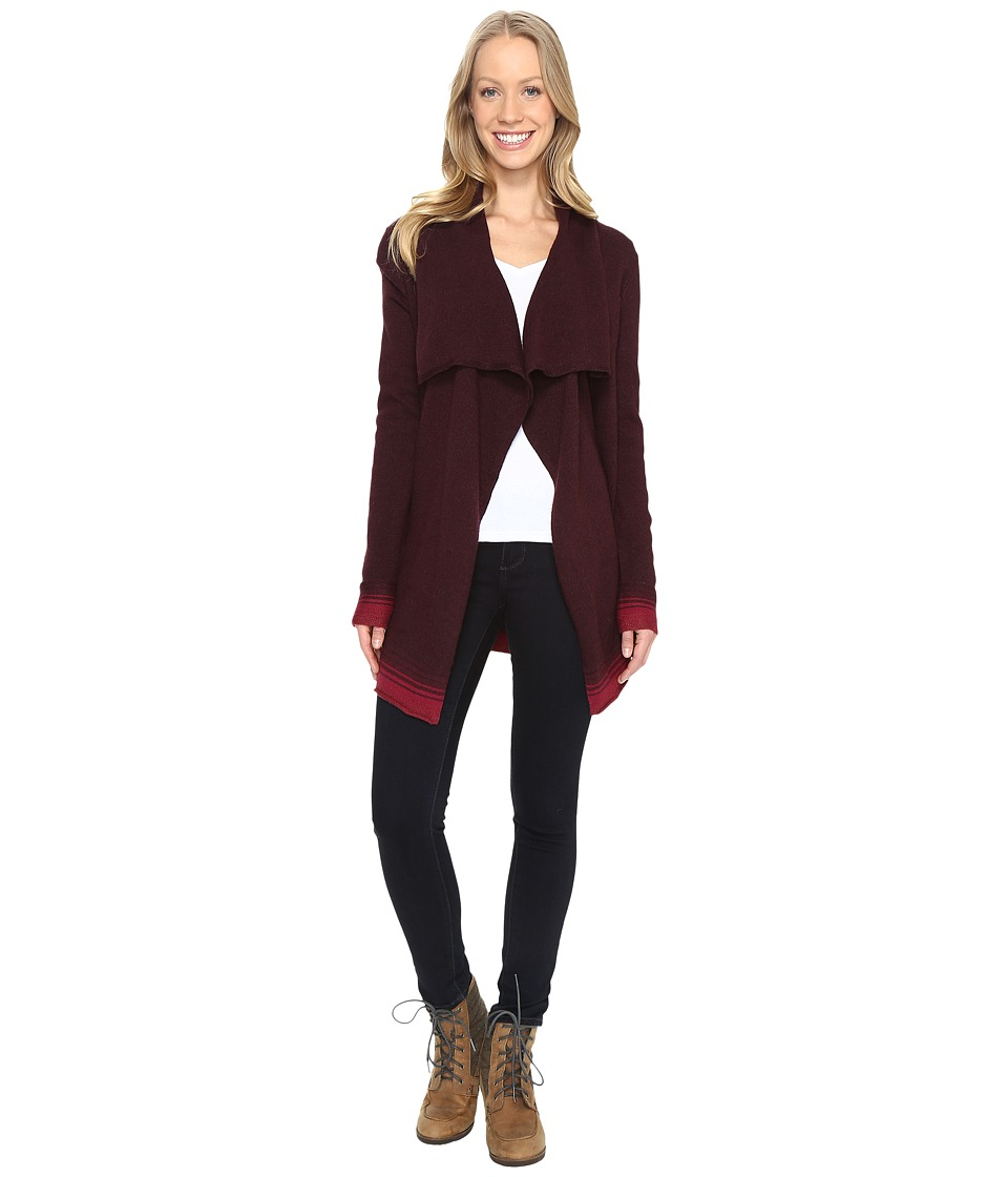 Woolrich - Clapshaw II Long Cardigan (Burgundy Multi) Women's Sweater
