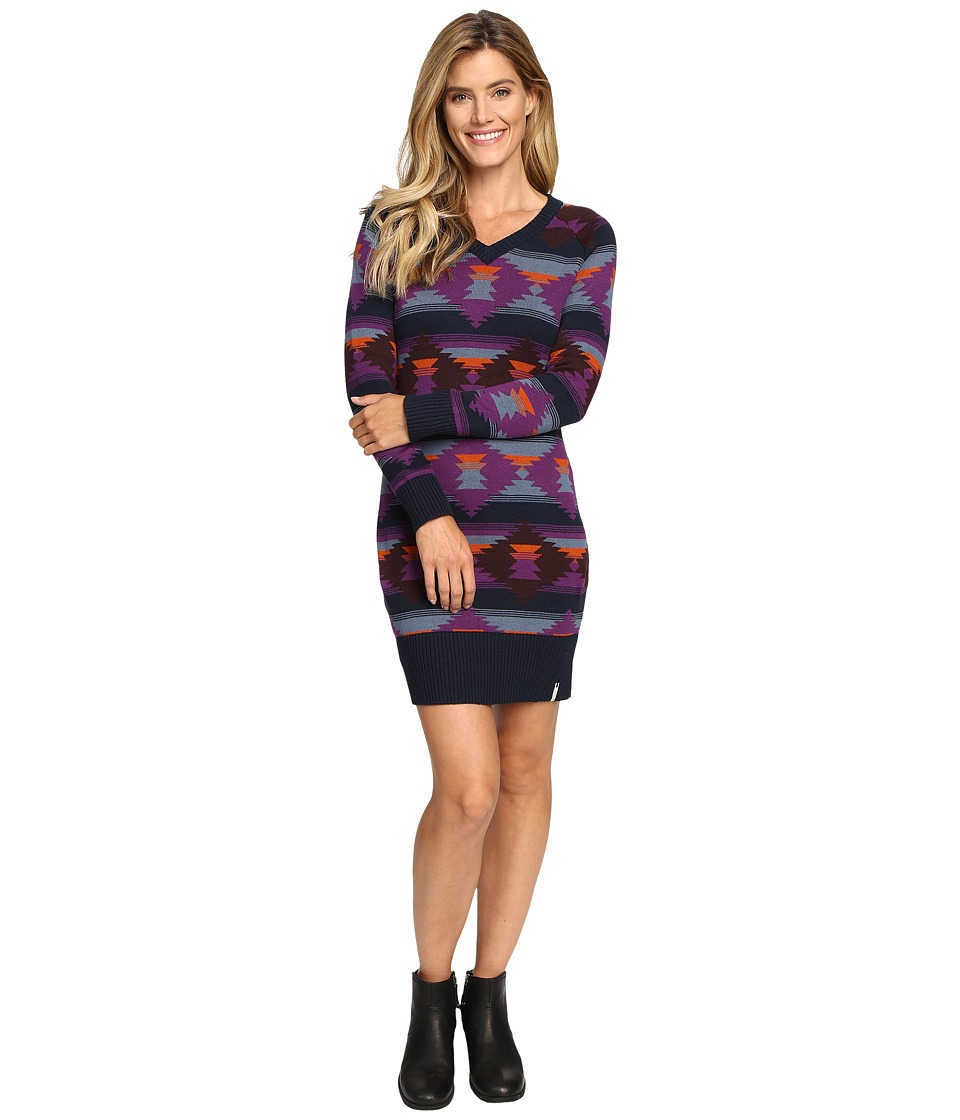 Woolrich - Dew Berry Sweater Dress (Deep Indigo Multi) Women's Dress