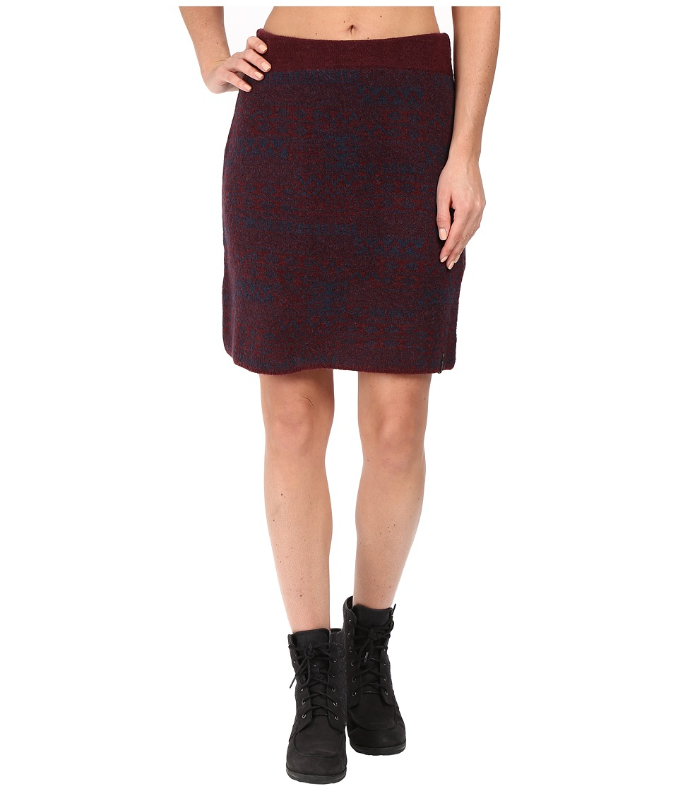 Woolrich - Patchwork Sweater Skirt (Burgundy Multi) Women's Skirt
