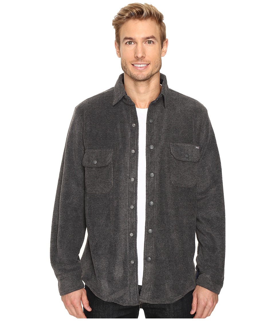 Woolrich - Andes Fleece Shirt Jacket (Charcoal Heather) Men's Coat