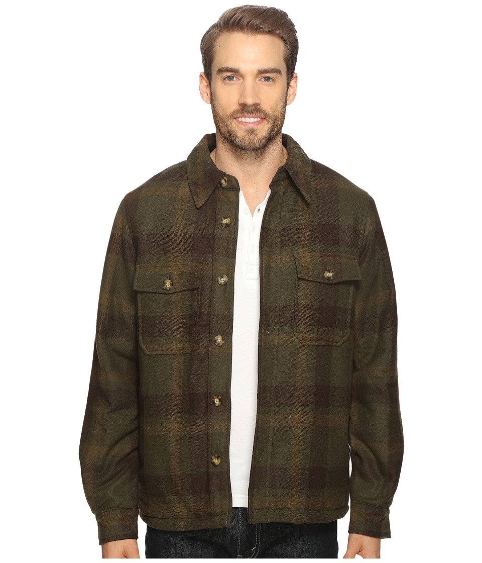 Woolrich - Charley Wool Shirt Jac (Olive Plaid) Men's Coat