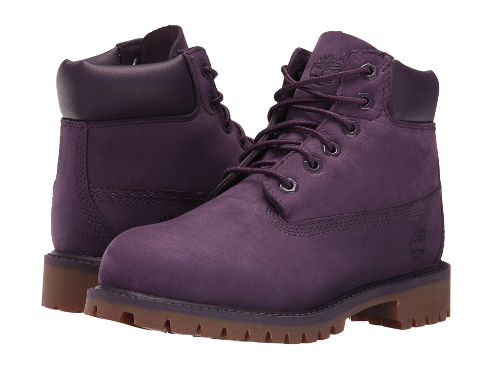 Timberland Kids - 6 Classic Boot (Little Kid) (Purple Nubuck) Girls Shoes