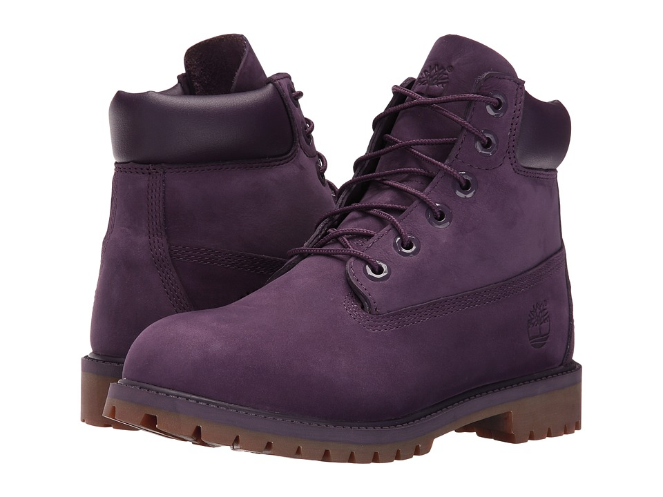 Timberland Kids - 6 Classic Boot (Big Kid) (Purple Nubuck) Girls Shoes