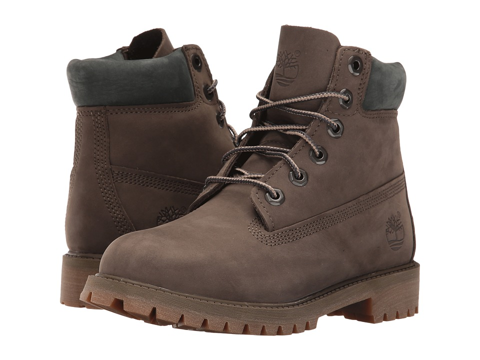 Timberland Kids - 6 Premium Boot (Big Kid) (Canteen Waterbuck Nubuck) Boys Shoes