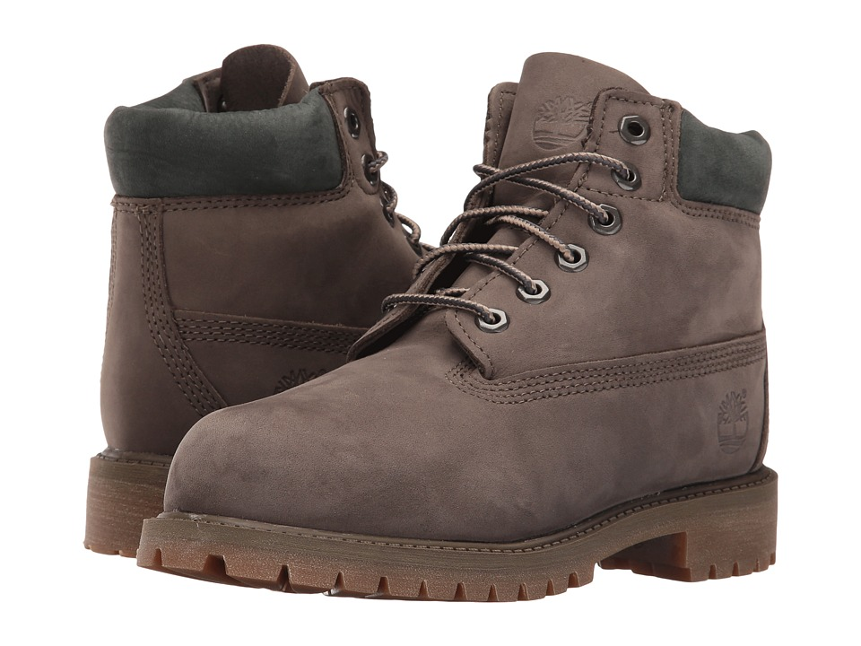 Timberland Kids - 6 Premium Boot (Little Kid) (Canteen Waterbuck Nubuck) Boys Shoes