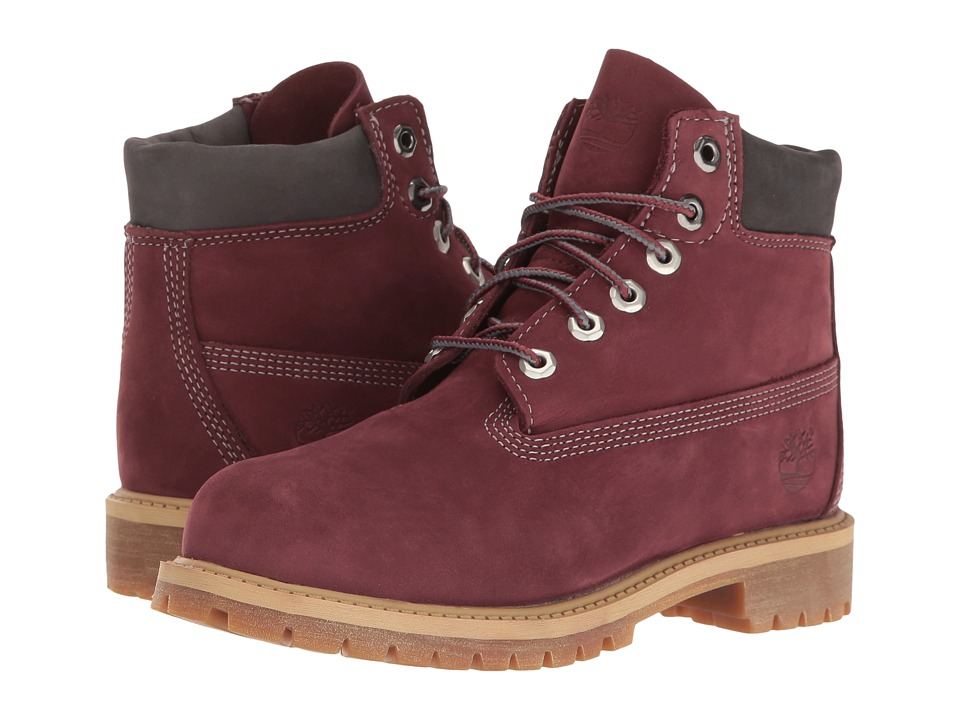 Timberland Kids - 6 Premium Boot (Little Kid) (Dark Port Nubuck) Boys Shoes