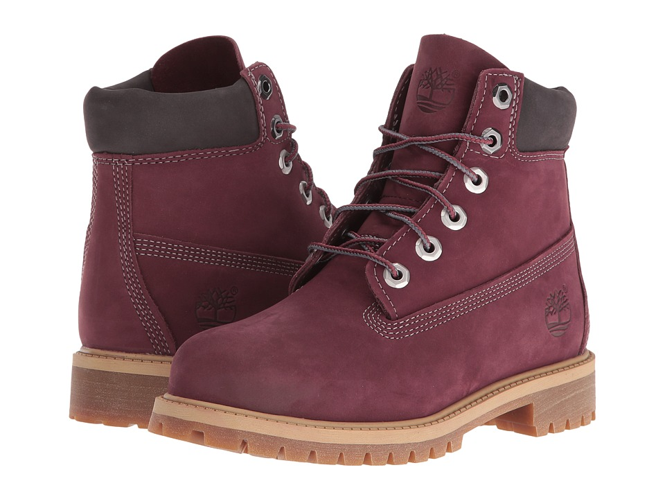 Timberland Kids - 6 Premium Boot (Big Kid) (Dark Port Nubuck) Boys Shoes