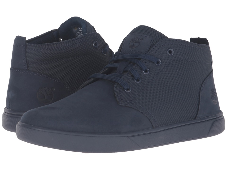Timberland - Groveton Leather and Fabric Chukka (Navy Nubuck) Men's Shoes