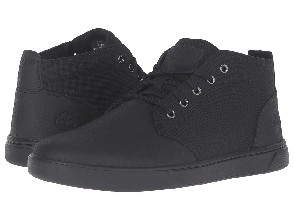 Timberland - Groveton Leather and Fabric Chukka (Black TecTuff Leather) Men's Shoes