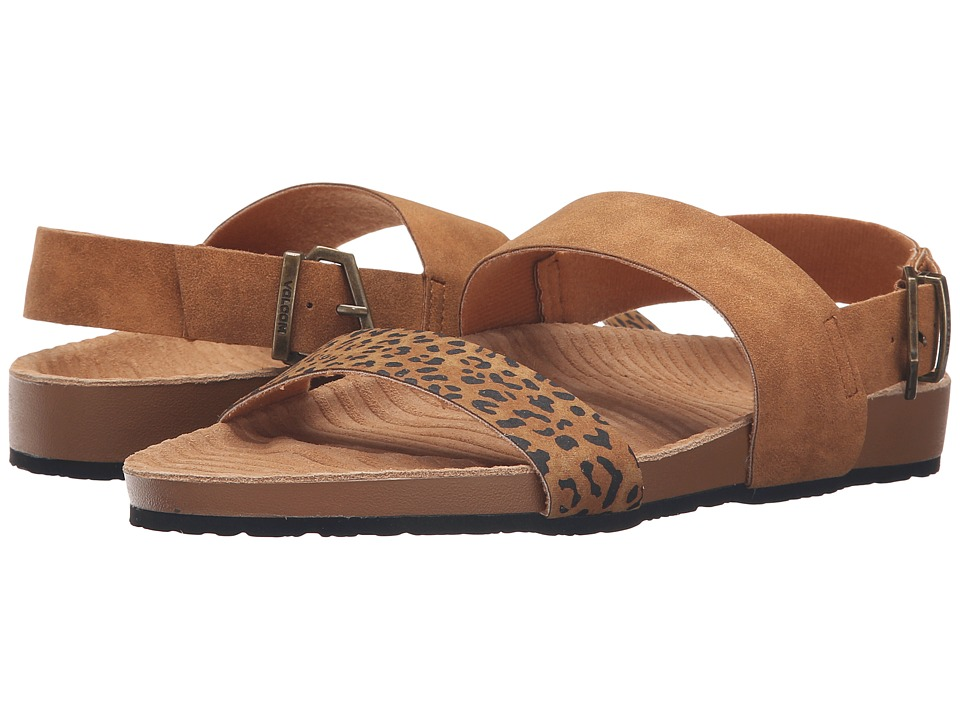 Volcom - Unwind Sandal (Cheetah) Women's Sandals