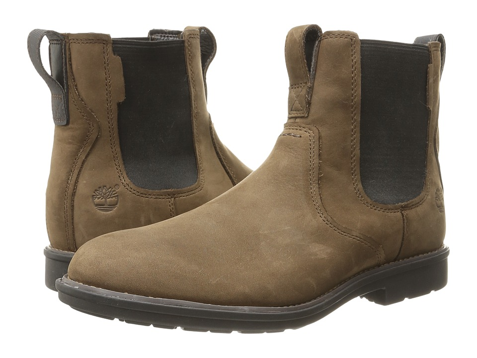 Timberland - Carter Notch Plain Toe Chelsea (Medium Brown Full Grain) Men's Pull-on Boots