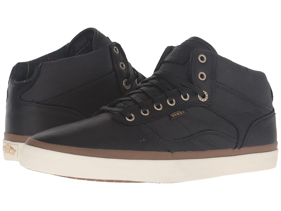 Vans - Bedford ((Nubuck/Plaid) Black/White) Skate Shoes