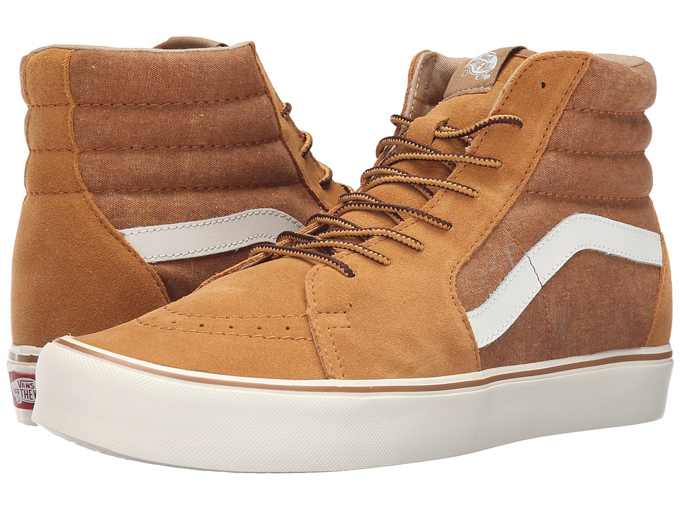Vans - Sk8-Hi Lite ((Vintage) Cathay Spice/Classic White) Men's Skate Shoes