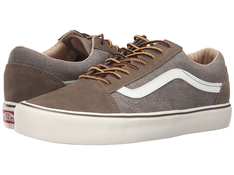 Vans - Old Skool Lite ((Vintage) Walnut/Classic White) Men's Skate Shoes