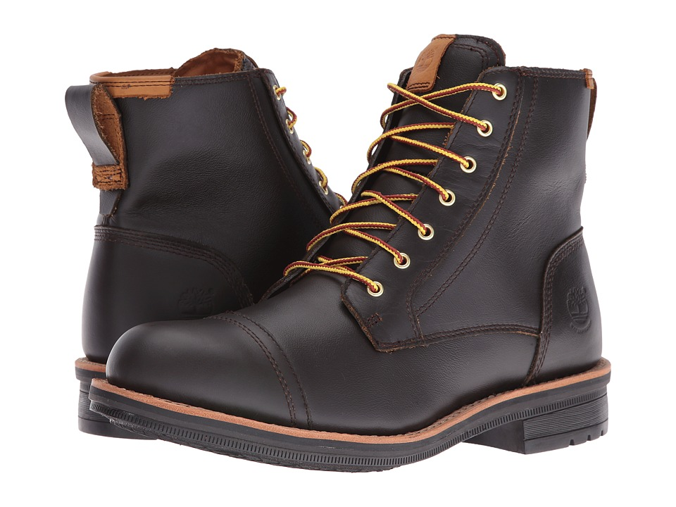 Timberland - Willoughby 6 Waterproof Boot (Dark Brown Full Grain) Men's Work Boots