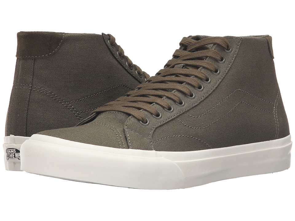 Vans Court Mid ((Canvas) Ivy Green) Men