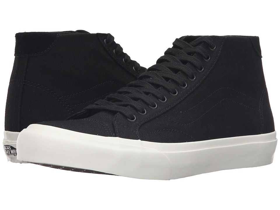 Vans - Court Mid ((Canvas) Black) Men's Skate Shoes