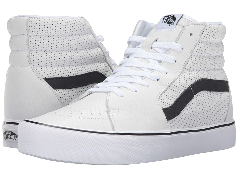 Vans - Sk8-Hi Lite ((Perf) White) Men's Skate Shoes