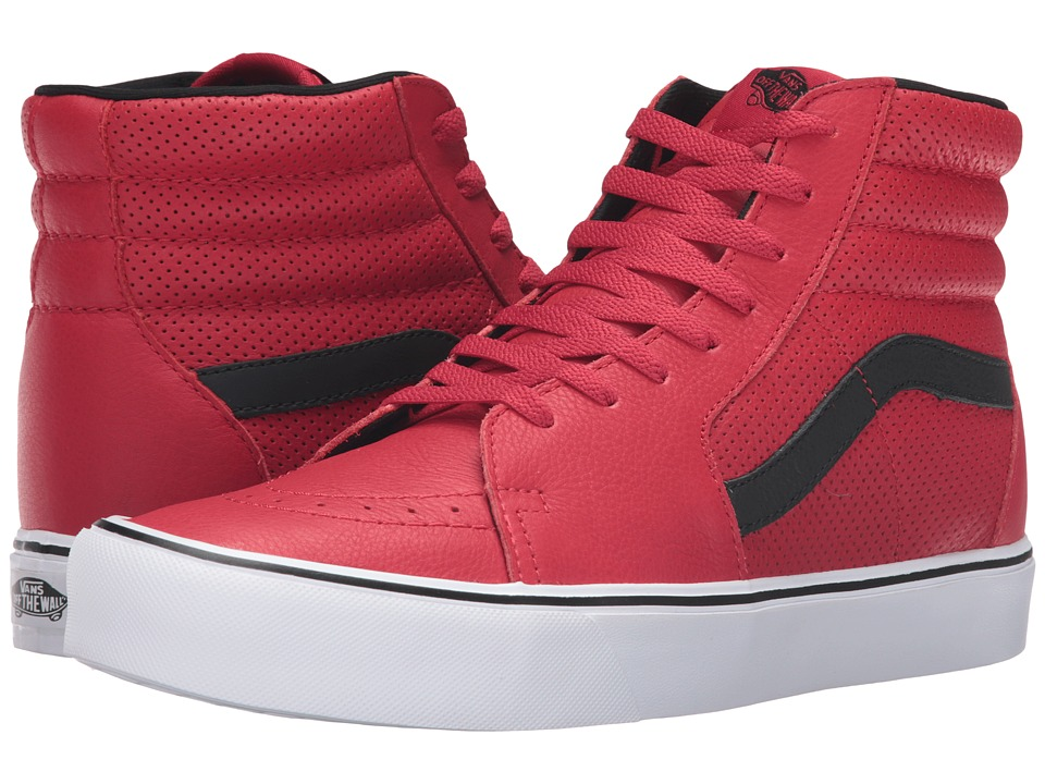 Vans - Sk8-Hi Lite ((Perf) Red) Men's Skate Shoes