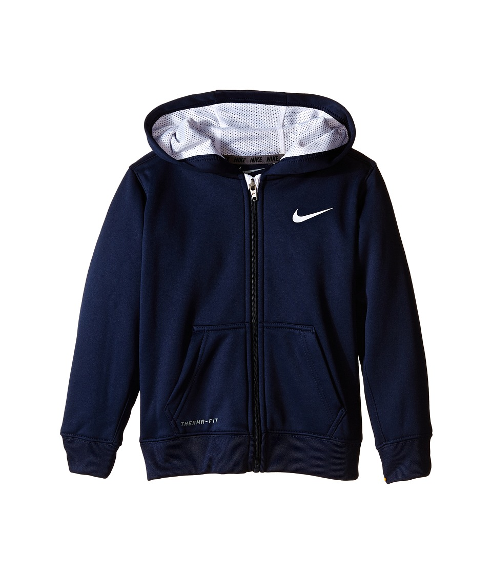 Nike Kids - KO 2.0 Full Zip Hoodie (Little Kids) (Obsidian) Boy's Sweatshirt